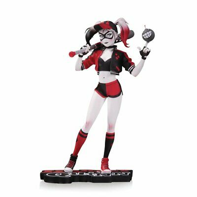 Harley Quinn Red White & Black Statue By Chen Statue - Brand New