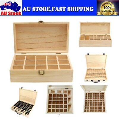 15~70Slot Aromatherapy Essential Oil Storage Box Wooden Case Container Holder