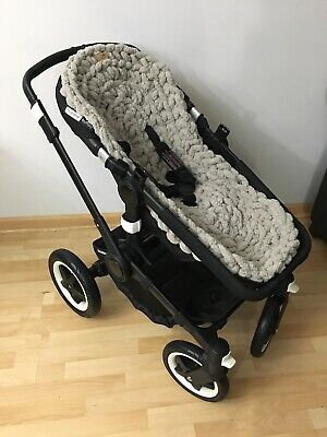 Hand Knitted Chunky Fleece Seat Liner For Bugaboo Strollers