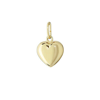 14K 585 Yellow gold Heart Pendant Chains High Polished 6.5X6.3mm Ladies Girls