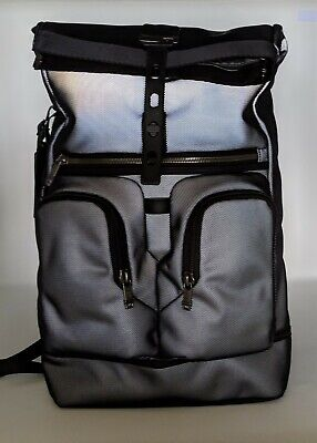 New TUMI Alpha Bravo Luke Roll-Top Backpack - Reflective Silver - 232388RS 095e213382c09