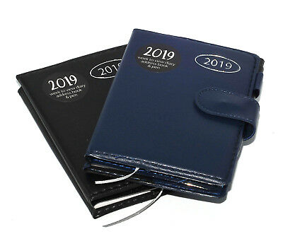 2019 Day to Page Poket Family Organiser Appointment Office Desk Diary Pen