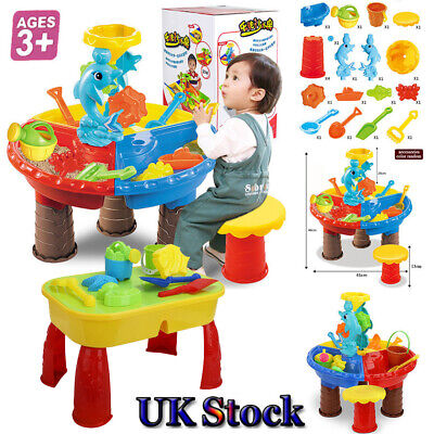 8/23 Sand and Water Table Sandpit Indoor/Outdoor Beach Kids Child Play Toy Set