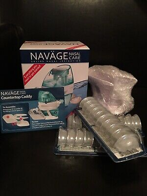Navage Nasal Irrigation w/ 60 SaltPods& Countertop Caddy-Ships Global