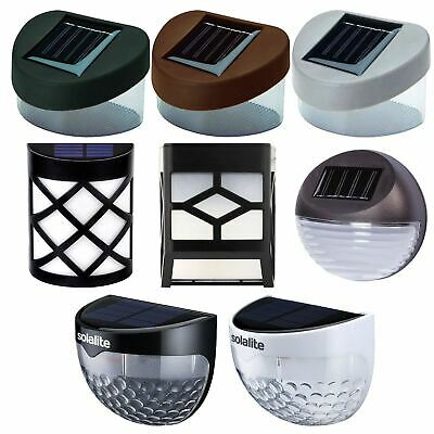 Solar Powered Fence Lights Wall Door Step Smd Led Light Outdoor Garden Lighting