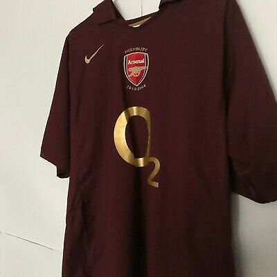 9c54cb2583f  14 Thierry Henry Arsenal Home football shirt 2005 - 2006 Nike Soccer Jersey  L
