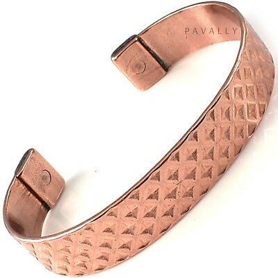 LARGE PURE COPPER MAGNETIC BRACELET bangle carpal tunnel arthritis pain relief