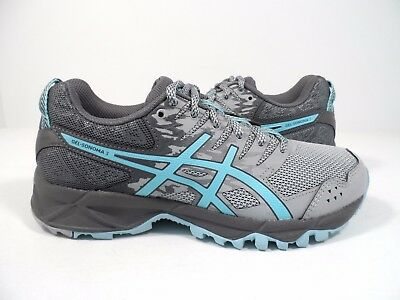 4af77e285ee2 ASICS WOMEN S GEL-SONOMA 3 Trail Runner MID GREY CARBON EVENING SAND ...