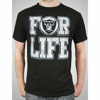 f1d605b6 Mens NFL Oakland Raiders T Shirt Black For Life Junk Food American Football