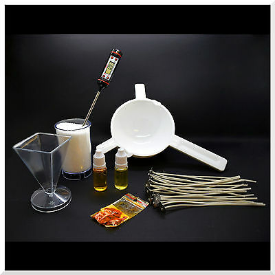 7 Pieces Complete Candle Making Kit Craft Accessory Set Starter Wicks Wax Bach