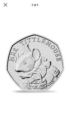 Mrs Tittlemouse 2018 50p coin Uncirculated From Sealed Bag, Free post