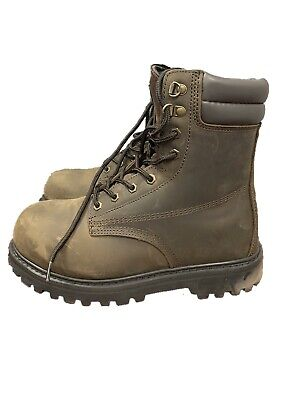 Men's Tough Waterproof Safety Toe Lace-Up Work Boot Boots