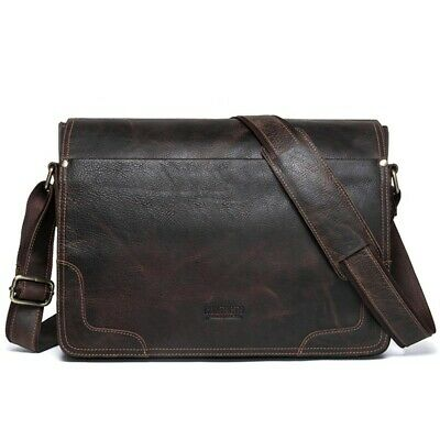 Mens Leather Bags Male Bag Shoulder Man Crossbody For Laptop Briefcase Portfolio