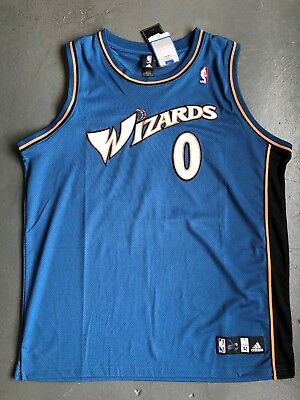f111d31ace8 Adidas Authentic Washington Wizards Gilbert Arenas Jersey Brand New Size 52  XXL