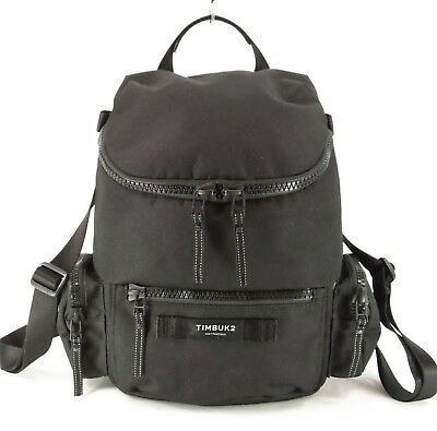 Timbuk2 Canteen Pack Mini Backpack Bag Travel Purse Black Canvas M RARE $89 NWOT
