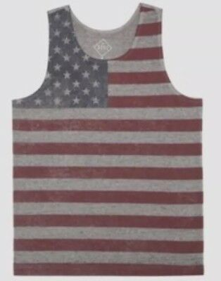 9855082eeaed3 Well Worn Mens American Flag Tank Top Size Large