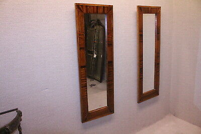 Pair of Arts & Craft Style Wall Mirror Tiger Maple & Tiger Oak Fully Restored