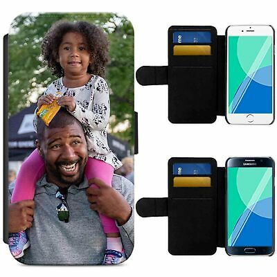 Personalised Photo Flip Wallet Phone Case Picture Cover Image For Samsung Iphone