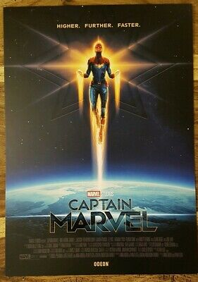 Captain Marvel ODEON A4 Sized Poster:Marvel Studios