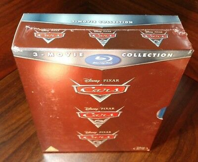 Cars 1+2+3 Trilogy Collection(Blu-ray,3 Discs,Disney,Region Free)NEW-Free Shippi