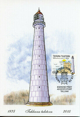 Estonia 2015 MAXI Takhuna Lighthouse 1v Cards Lighthouses Architecture Stamps