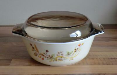 "M&S Marks & Spencer HARVEST Pyrex Lidded Casserole Dish Approx 8.5"" dia"
