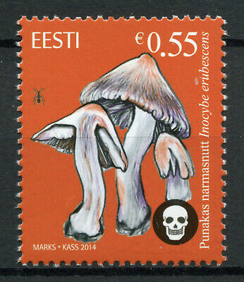 Estonia 2014 MNH Poisonous Mushrooms Deadly Fibrecap 1v Set Fungi Nature Stamps