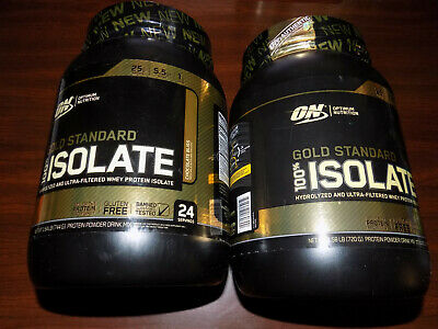 2 Optimum Nutrition Gold Standard 100% Isolate Whey Protein 48 Servings Total!!!