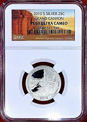 2010-S US GRAND CANYON N.P. SILVER • AM the Beautiful Quarter 25C NGC PF69 UCAM!