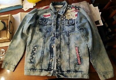 860a8a59c55 1738 Original Brand Denim American Flag Jacket - Mens Size Medium