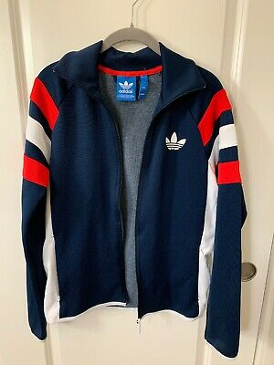 NEW Adidas Originals Mens Trefoil FC Fully zipped Track Jacket Navy Red White XL