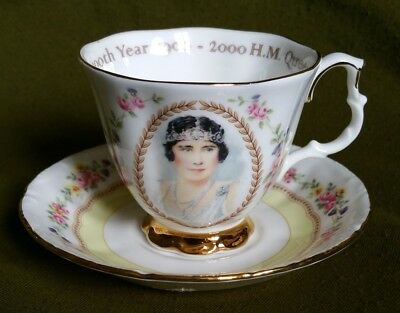 The Queen Mother's 100th Year, Commemorative Cup and Saucer by Royal Albert