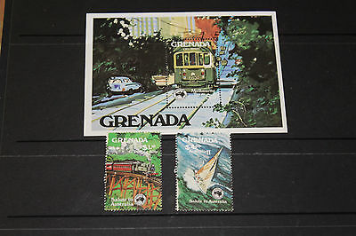 Grenada 1984 Ausipex Minature Sheet & Set  Of 2  Fine M/n/h Cond