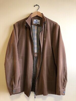 Vintage Burberry Suede Leather Jacket. One Of A Kind!