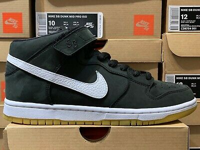 online store 47b71 13768 Nike SB Dunk Mid Pro ISO Orange Label CD6754-001 Black White Sizes 7-