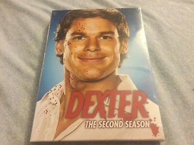 Dexter - The Complete Second Season (DVD, 2008, 4-Disc)100% Authentic, Brand New