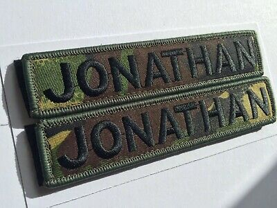 "Name Patch Badge Embroidered 5""X 1"" Hook And Loop AirSoft Paintball CrossFit Mod"