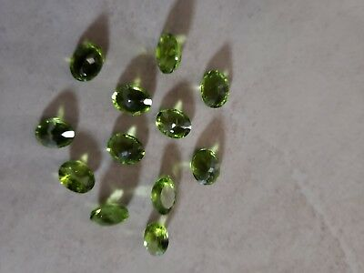 **OVAL SHAPED PERIDOTS** 12 in total REPLACEMENT VALUE $8592