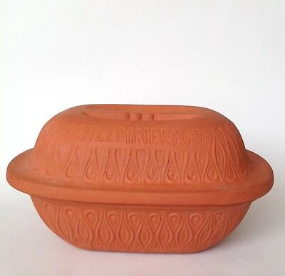 Vintage Scheurich Clay Pot  Schlemmertopf Baking Dish West Germany