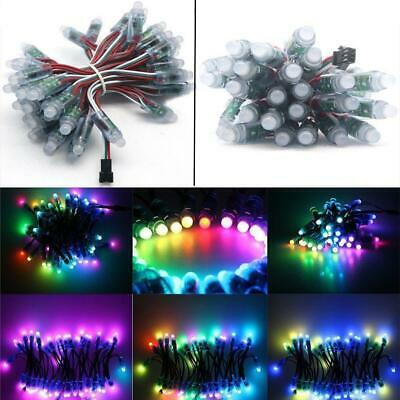 50 PCS WS2811 RGB Full Color 12mm Pixels Digital Addressable LED String DC 5V GA