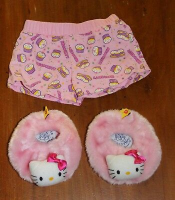 Build a Bear Workshop Hello Kitty Shorts and Shoes Clothes Outfit