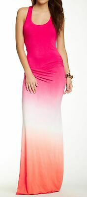 Young Fabulous /& Broke Hampton Maxi Dress Hot Orange//Ombre Medium