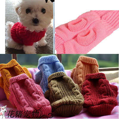 XXXXS/ XXXS Teacup Dog Sweater Puppy Cat Hoodie Coat Warm Clothes for Chihuahua