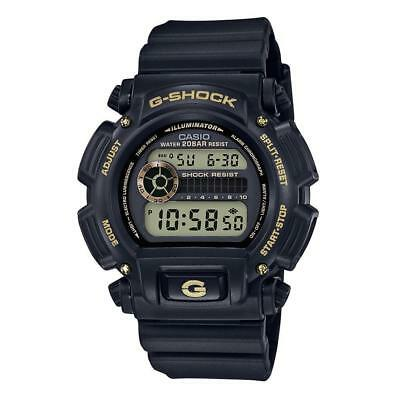 Casio Men's G-Shock Black Resin Digital Watch DW9052GBX-1A9 Gold Accents