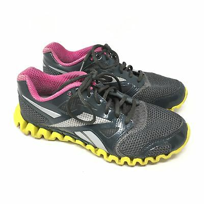 08828b56a9b WOMEN S REEBOK ZIGNANO Fly 2 Shoes Sneaker Size 7.5 Running Gray Yellow  Pink H15 -  24.92