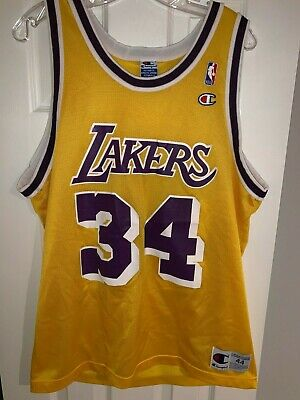 57af5fc3d03 Vintage Shaquille O'Neal Champion Jersey Size 44 Los Angeles Lakers LA Shaq  #34