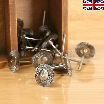 UK 20x Stainless Steel Wire Wheel Cleaner Brush Rotary Polishing Tool for Power