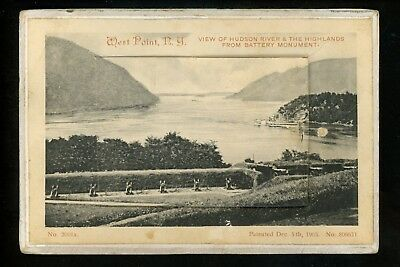 Novelty postcard Door Open w/ Multi Views West Point, New York NY Hudson River