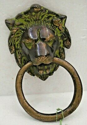LARGE - ANTIQUE Style Brass DOOR KNOCKER - LION Style - Fully Brass (1562)
