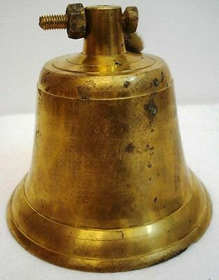 BRASS Bell - Marine / Religion / Spiritual - Height: 6. - Weight: 2.46 (1347)